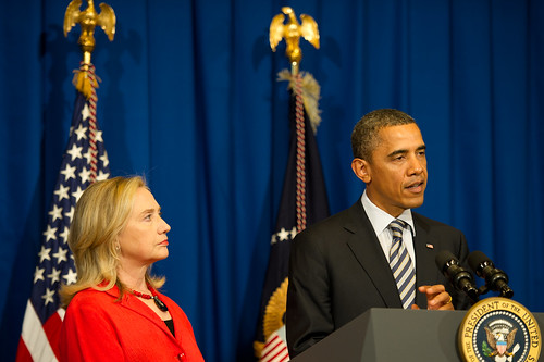 President Obama And Hillary Clinton, From FlickrPhotos
