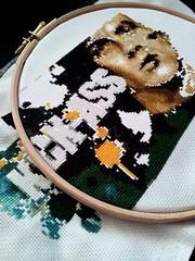 Kick-Ass Progress III (stitchFIGHT) Tags: crossstitch embroidery marvel kickass xstitch