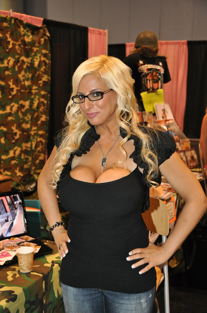 Blonde busty cam web