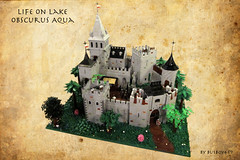 "CCCIX - ""Life on Lake Obscurus Aqua"" (vdubguy67') Tags: city lake tree tower castle classic water town war king lego fort space contest knight build siege moc afol cccix"