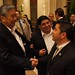 U.S. Rep. Ben Ray Lujan of New Mexico's 3rd Congressional District talks with San Carlos Apache Chairman Terry Rambler and All Indian Pueblo Council Chairman Chandler Sanchez at the NNWO reception. Nov. 29, 2011. Photo by Jared King / NNWO.  This Navajo Nation Washington Office photograph is being made available only for publication by news organizations and/or for personal use printing by the subject(s) of the photograph. The photograph may not be manipulated in any way and may not be used in commercial or political materials, advertisements, emails, products, promotions that in any way suggests approval or endorsement of Navajo Nation President Ben Shelly or Vice President Rex Lee Jim.