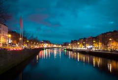 The Liffey - Dublin (jp3g) Tags: blue ireland dublin water night river panasonic liffey g3 stpatricks
