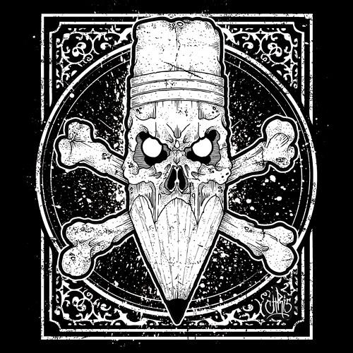Abdz sticker skullcil chris gfx tags tattoo pencil skull design sticker graphic hydro74