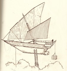 bobbing air ship (riverbirds) Tags: boat sketch 365