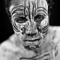 Karo tribe warrior - Omo Ethiopia (Eric Lafforgue) Tags: artistic culture tribal ornament tribes bodypainting tradition tribe ethnic rite tribo adornment pigments ethnology tribu omo eastafrica thiopien etiopia ethiopie etiopa 8136  etiopija ethnie ethiopi  etiopien etipia  etiyopya  nomadicpeople         peoplesoftheomovalley