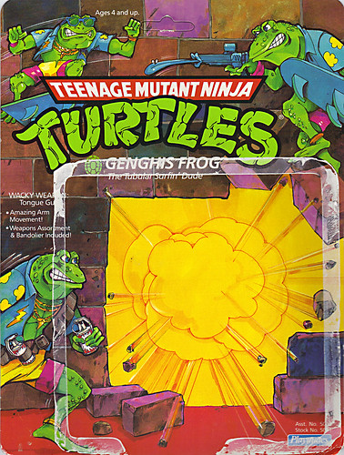 TEENAGE MUTANT NINJA TURTLES :: GENGHIS FROG .. card backer i (( 1989 ))