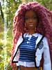 p232 (Alrunia) Tags: dreadlocks doll ooak barbie yarn asha dreads fashiondoll mattel aa shani reroot caligirl restyle 16thscale playscale