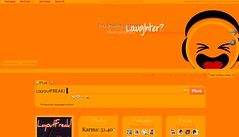 Laughter? Layout (LayoutFREAK!) Tags: orange cute layout funny bright emoticons theme layouts themes plurk plurktheme plurkthemes plurklayout plurklayouts layoutfreak
