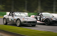 Close racing (PGDesigns.co.uk) Tags: uk race championship track miata esses mx5 motorsport mallorypark max5 eunos mk3 max5racing 8thoct2011