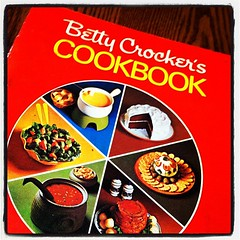 Mom's Vintage Cookbook (travelontheside) Tags: food cooking vintage square recipe cookbook retro squareformat recipes cookery bettycrocker iphone bettycrockerscookbook bettycrockercookbook iphoneography instagram instagramapp uploaded:by=instagram