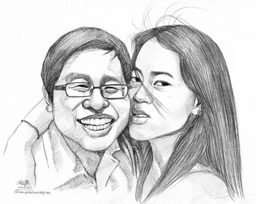 couple portraits in pencil 20082011