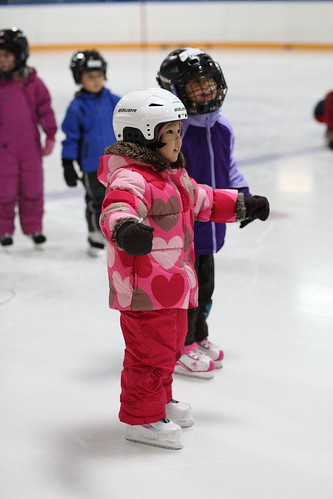 first skating lesson - brewer arena