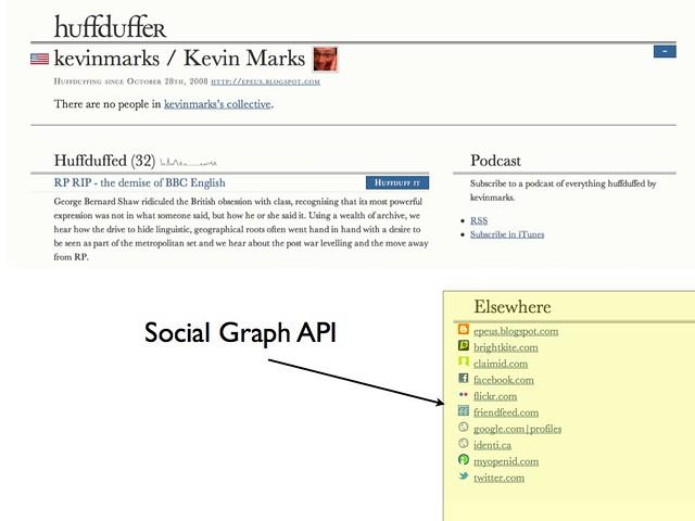 Huffduffer / Google Social Graph