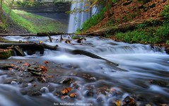 decew falls (Rex Montalban) Tags: longexposure autumn trees ontario fall mill creek milk woods rocks colours stones smooth silk pebbles waterfalls slowshutter stcatharines hdr slowexposure hss decew decewfalls powerglen rexmontalbanphotography slidersunday happysliding morningsidemills