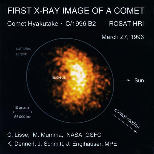 ROSAT image of Comet Hyakutake