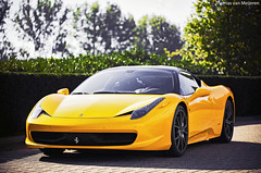 Ferrari 458 Italia (Thomas van Meijeren) Tags: auto italy black color cars netherlands dutch car yellow canon 1 italian italia ferrari giallo khalifa formula mk2 5d modena f28 supercar challenge f430 wiz twotone 458 hypercar f458 antracite worldcars