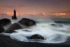 Reynidrangar Waves near Vk, Iceland (orvaratli) Tags: ocean sea summer seascape landscape iceland rocks waves atlantic vik arctic pinnacle seastack vk reynisdrangar phototour arcticphoto