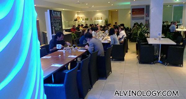 Inside the resort restaurant