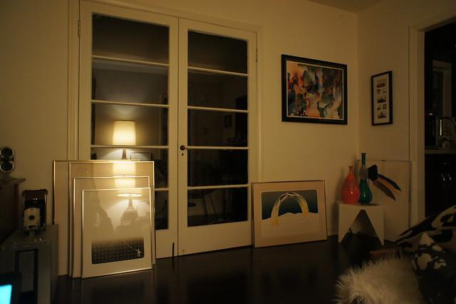 Living room - art stacks