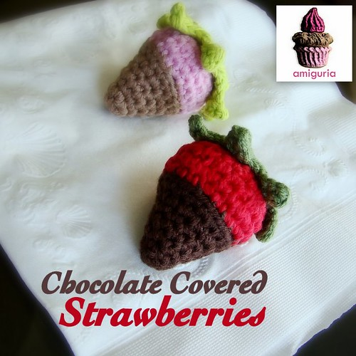 Chocolate Covered Strawberries Amigurumi by Amiguria by Amiguria