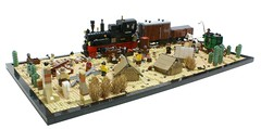 Railway Construction (Matija Grguric) Tags: building train lego railway creation western wildwest matija moc grguric
