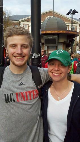 Graham and Caitlin at Harvard Square