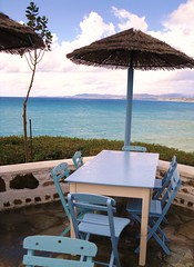 Table, chairs (pefkosmad) Tags: greece taverna greekislands pefkos griechenland rhodes kavos dodecanese rodhos