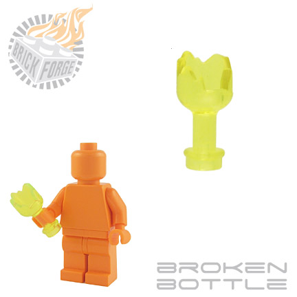 Broken Bottle - Trans Neon Green