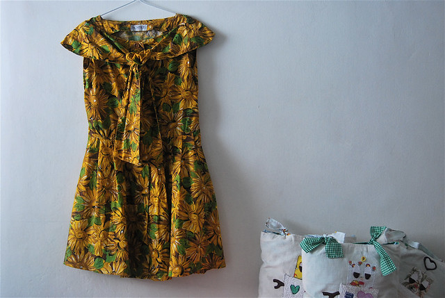altered :: 'sunflowers' vintage dress