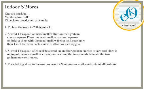 Indoor S'Mores Recipe from EvinOK.net