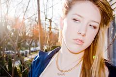 Stand Off-ish (florbelas fotographix) Tags: street portrait face sunshine female neck outdoors photography photoshoot editorial sunburst puma blondehair florbelasfotographix advertlooking fotoshootbrittney