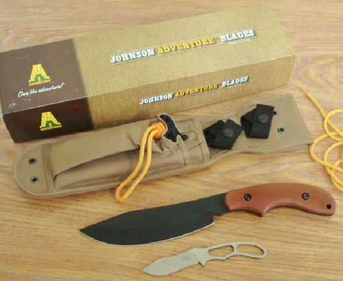 "KA-BAR The Adventure Potbelly Fixed 6-5/8"" Carbon Steel Blade, Adventuregrip Handles"