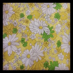 Vintage Sheet: lemon and green