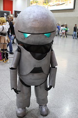 Marvin the Paranoid Android (NekoJoe) Tags: england london geotagged expo cosplay unitedkingdom cosplayer marvin thehitchhikersguidetothegalaxy gbr marvintheparanoidandroid londonexpo 2011 mcmlondonexpo october2011 londoncomiccon londoncomicconoctober2011 mcmlondonexpooctober2011 geo:lat=5150794782 geo:lon=002667457