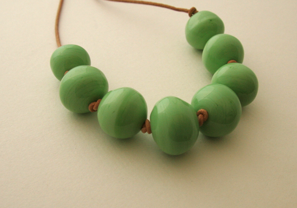 Bubble necklace in green