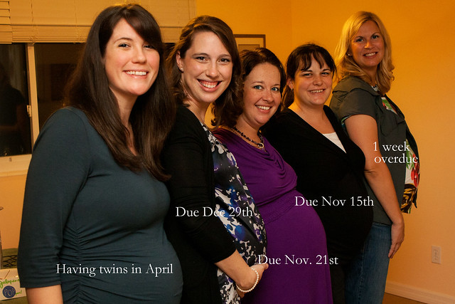 The pregnant lineup--6 babies total