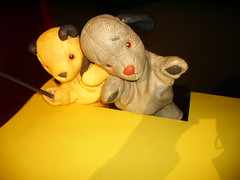 Sooty and Sweep (richiiebam) Tags: show madame statue kids tv matthew character famous cartoon muppets lancashire puppets merlin figure childrens sue celeb blackpool sooty sweep tussauds fictional waxwork televison sootyandsweep