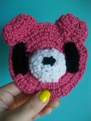 Gloomy bear hair clip (Mooy) Tags: bear pink cute animal crochet kawaii gloomybear hairclip