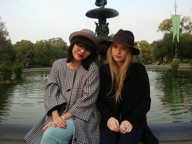 retro ladies at the park