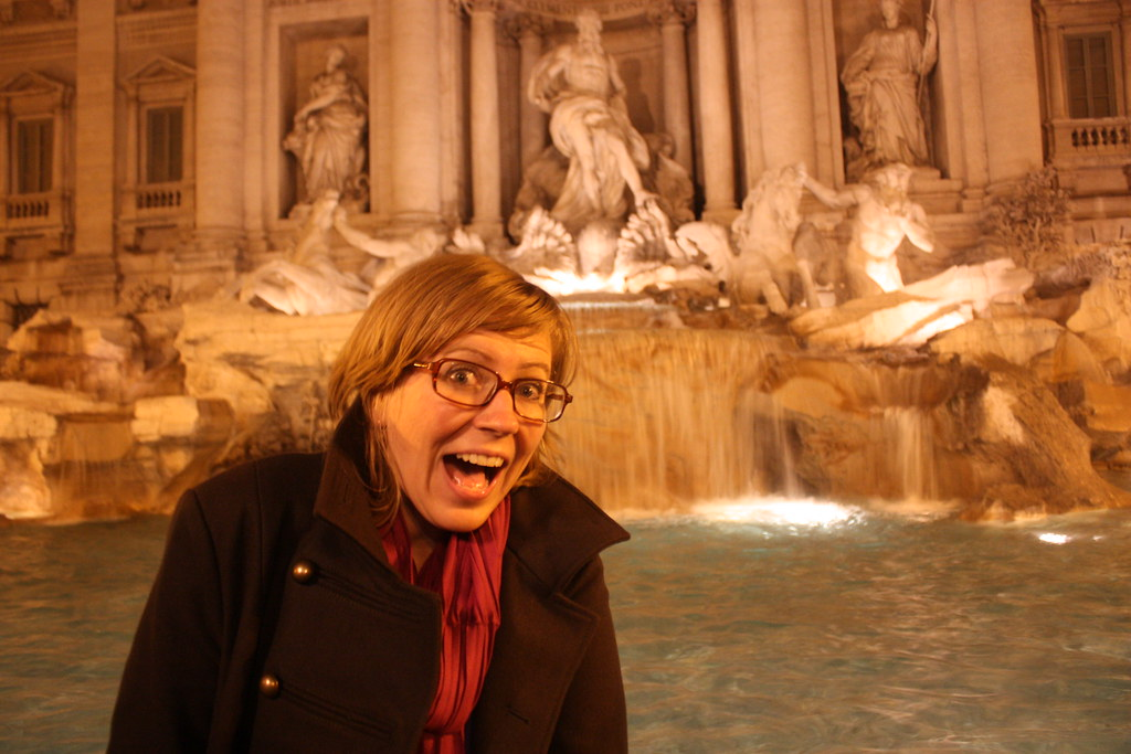Me at the Fontana di Trevi