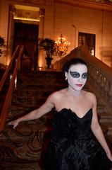 Black Swan (tacosnachosburritos) Tags: anna ballet woman house lake black flower girl carpet design swan glamour ballerina dress arms legs feathers palmer lobby couture tutu thelook fashio boonstra