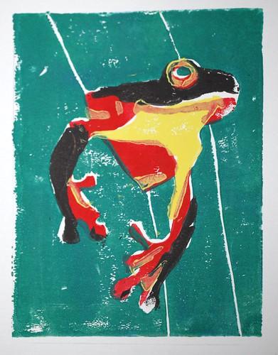 Colorful Frog Print
