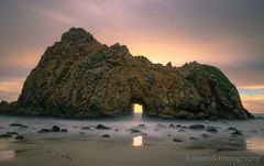 Finally. (Silent G Photography) Tags: california ca longexposure sunset cloud seascape reflection water rock landscape photography movement rocks waves arch pacific bigsur pch highway1 pacificocean coastal adobe waterblur keyhole f11 hdr highdynamicrange goldenhour pfeifferbeach lightroom reallyrightstuff pacificcoasthighway rrs photomatix hdrphotography 5exposures niksoftware 10stopndfilter ononesoftware highdynamicrangephotography bwnd110 colorefex3 nikond7000 nikkor1635mmf4 markgvazdinskas silentgphotography reallyrightstuffllc perfectphotosuite6