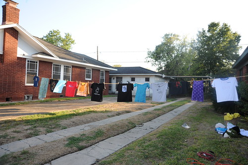 The clothesline installation