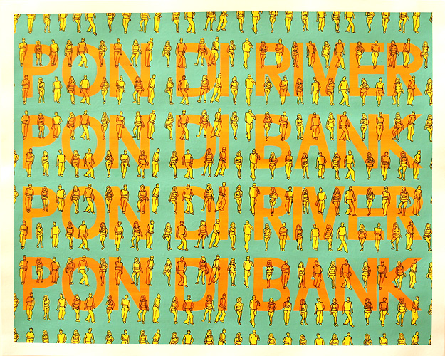 Pon di River, Acrylic & Ink on Paper, 50cm x 40cm by Robin Clare