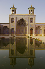 Nasir ol-Molk Mosque (AC84) Tags: travel reflection water asia iran muslim islam religion middleeast mosque shiraz nasirolmolk