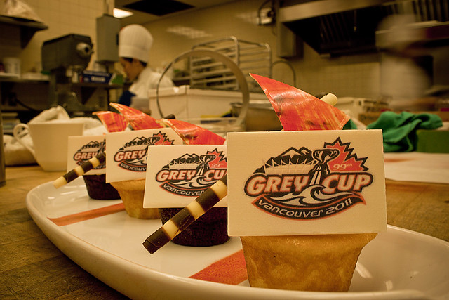Grey Cup Cupcakes from the Pan Pacific Vancouver