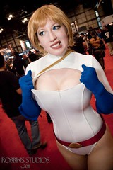 Boob Window (BelleChere) Tags: comics dc costume cosplay friday comiccon powergirl nycc