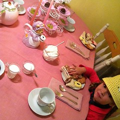 Tea party at Grandma's.