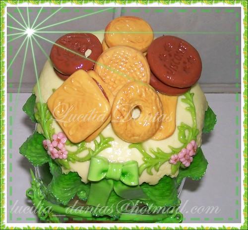 Pote verde para biscoitos